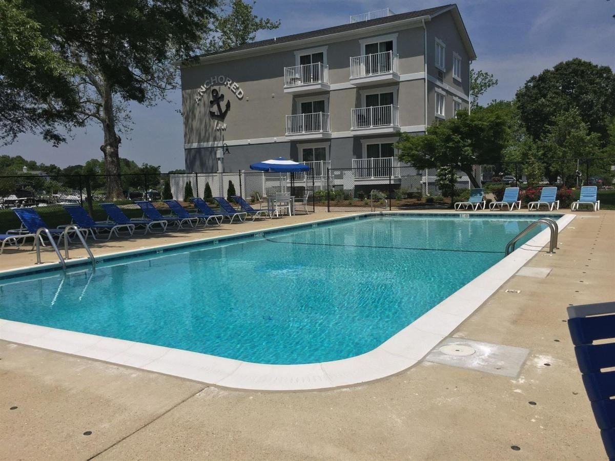 Swimming pool at the Anchored Inn