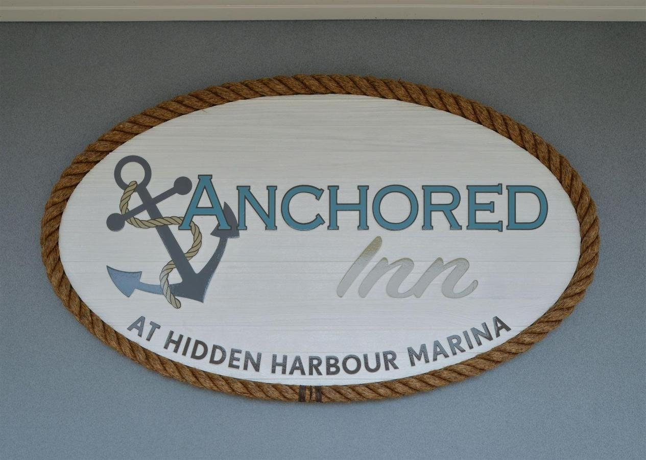 Anchored Inn sign on the wall
